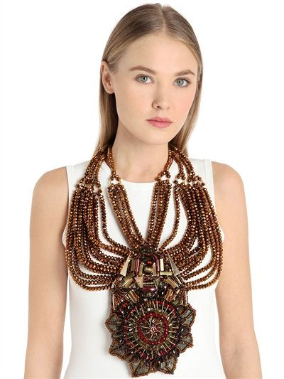 Nella beaded necklace by Anita Quansah London