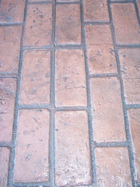 Brick Pattern Stamped Walkway