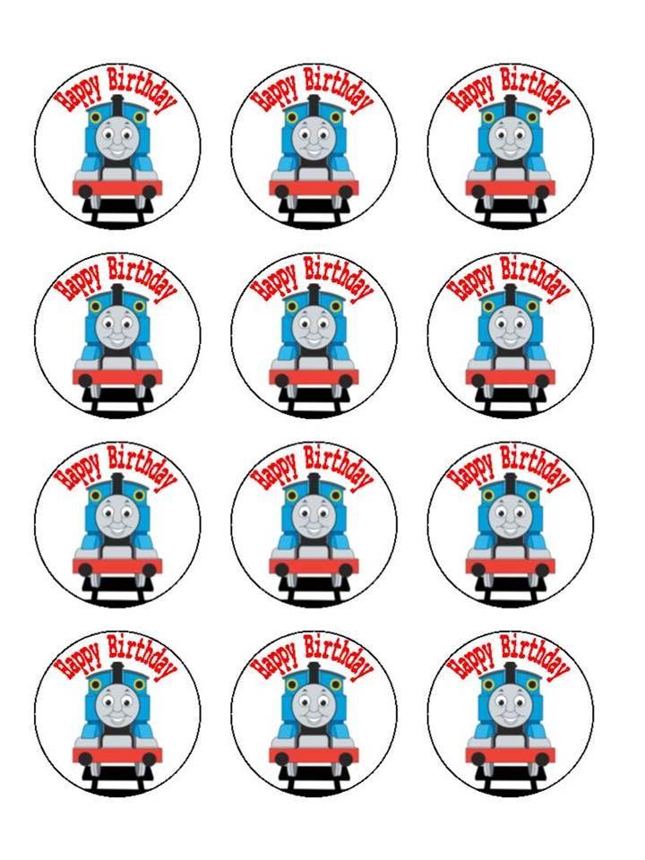 Thomas The Train Cupcake Edible Image Edible Images