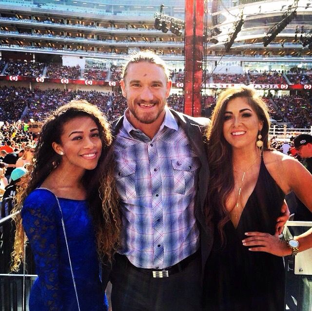 Jojo, Buddy Murphy & Devin Taylor at WrestleMania 31
