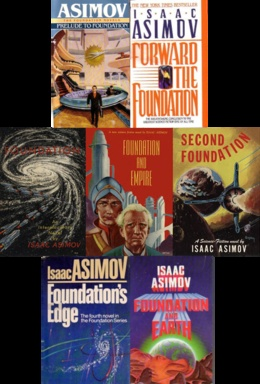 Isaac Asimov's Foundation series - second only to the Robots series.