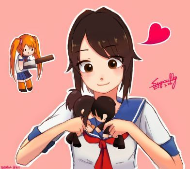 (FINISH!)Yandere Chan and Senpai doll by summilly