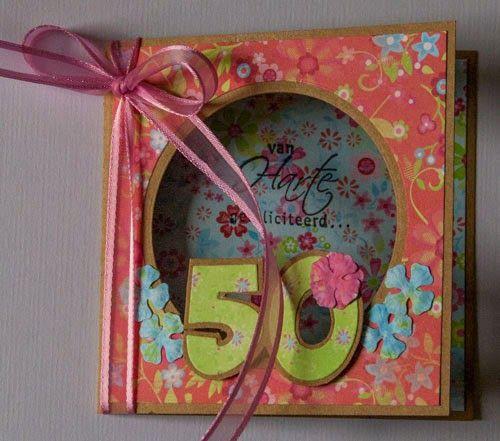 Marjoleine's blog: Een kaart voor een 50-jarige en een verhuiskaart