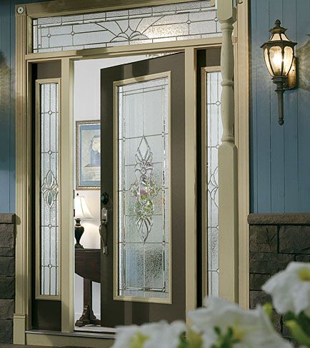 Decorative glass insert available through designer glass of wny odl - Odl glass door inserts ...