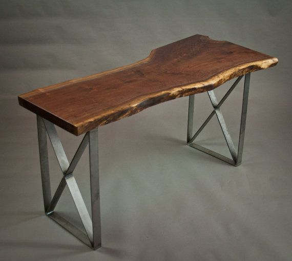 Your Custom Live Edge Black Walnut Desk Natural By