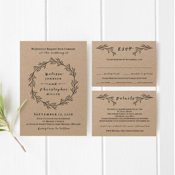 Hoi! Ik heb een geweldige listing op Etsy gevonden: https://www.etsy.com/nl/listing/266554599/printable-wedding-invitation-template