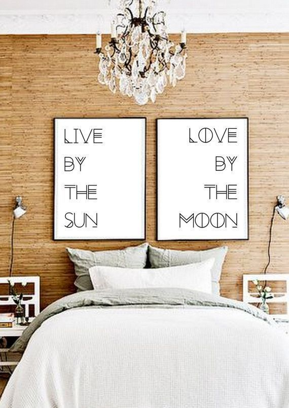 Set Of Two Prints - Poster pair - Double poster - Typography Gypsy Boho- eclectic - Over the bed Decor - Print Sets - printable file -