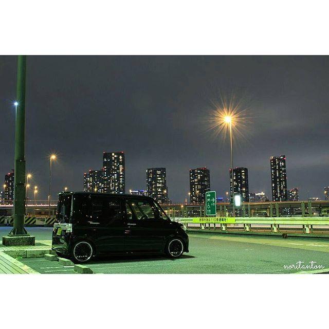 Instagram【noritanton】さんの写真をピンしています。 《今日は自分の車を撮影してきました😁✌🎵 前回のBMWとは全然違う~😂💦 自分のタントは絵にならんな…💧 #江東区 #辰巳 #辰巳第二 #辰巳第二パーキング #辰巳第二PA #首都高湾岸線 #夜景 #ダイハツ #タントカスタム #のりたんとん #写真撮ってる人と繋がりたい #写真好きな人と繋がりたい》