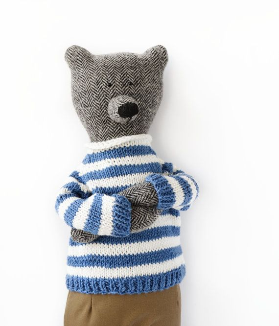 Marseilles The Bear. Primitive teddy Bear by PhilomenaKloss