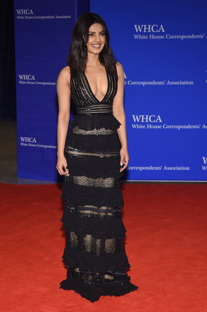 Pin for Later: It Wouldn't Be the White House Correspondents' Dinner Without a Side of Style Priyanka Chopra In a low-cut tiered gown.