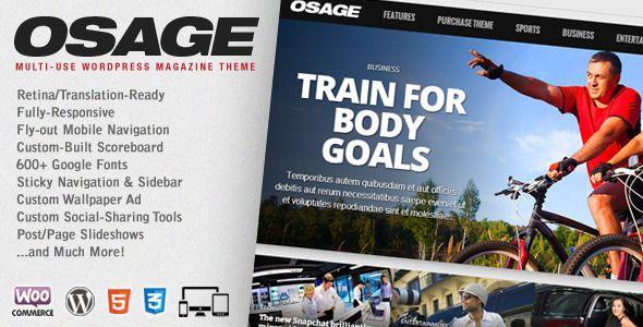 Osage - Multi-Use WordPress Magazine Theme • Download theme ➝…