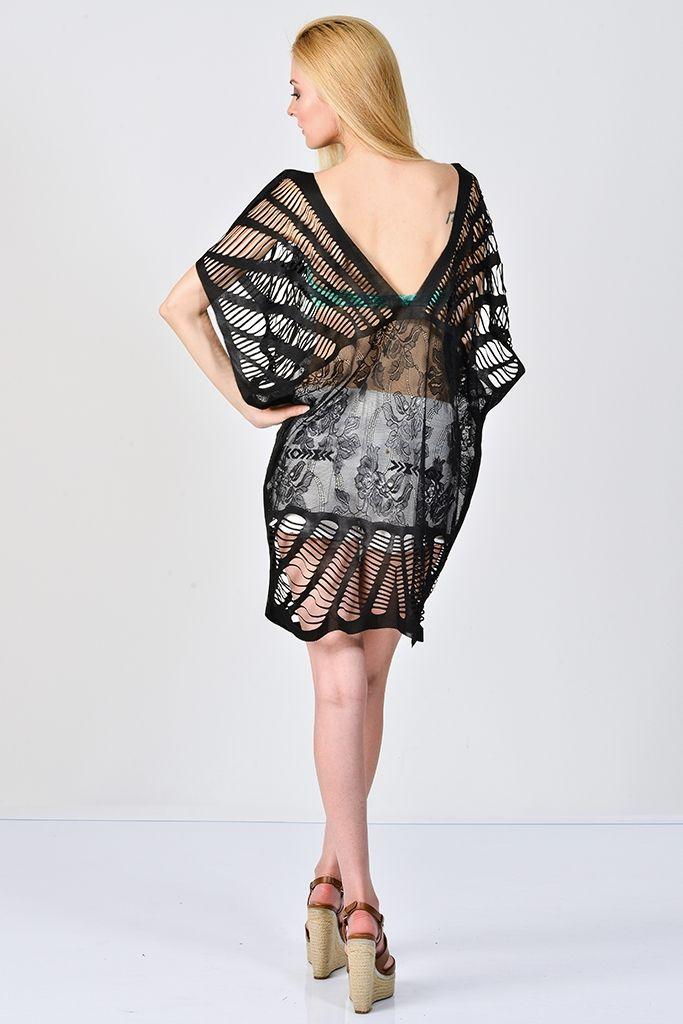 Sanriani Plaj Elbiseleri Siyah/Taylor   Plaj Elbiseleri   Moda Fabrik