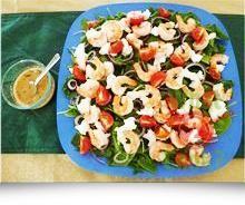 Prawn Salad Platter, John West cooked prawns, salad & lots of herbs | What2Cook