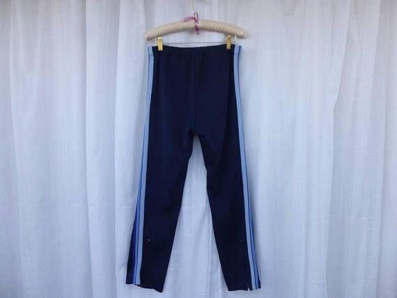 Vintage 70s Puma Racing Striped Sweatpants Warm-Up Workout Pants S M ... 32851ccc3