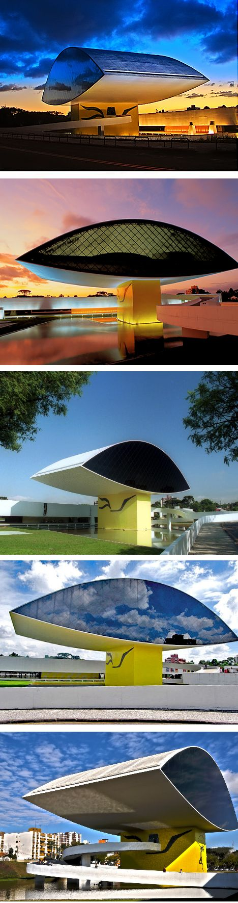 Oscar Niemeyer Museum - Curitiba - Brazil | architecture | Pinterest | Oscar niemeyer, Brazil and Museums
