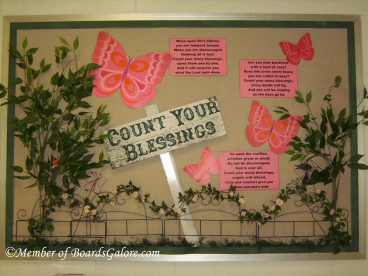 Count Your Blessings (bulletin board / attendance chart idea)