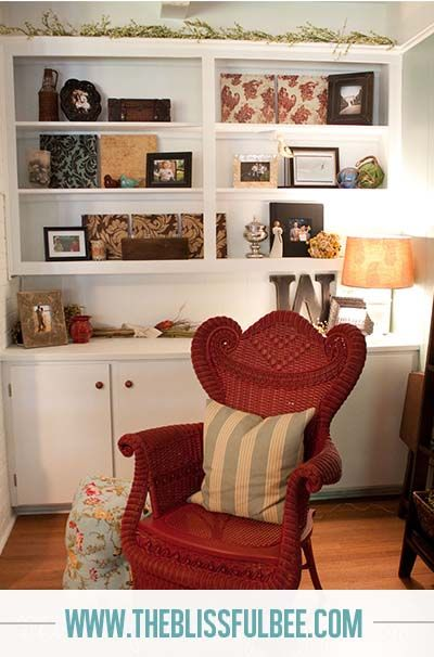 Wicker Chair Makeover | The Blissful Bee