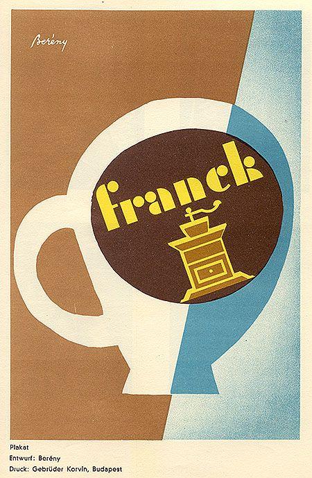 Poster for Franck, 1930. Design by Bereny