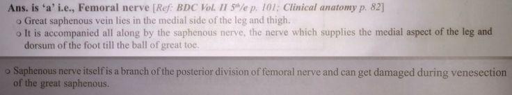 Venesection of Long / Great Saphenous vein - Saphenous Nerve injury ...