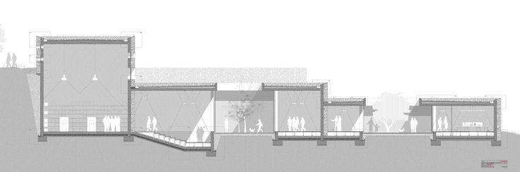 architecture section cut _ Elena Mira Lillo / Truffle´s Center of Interpretation . Cuenca
