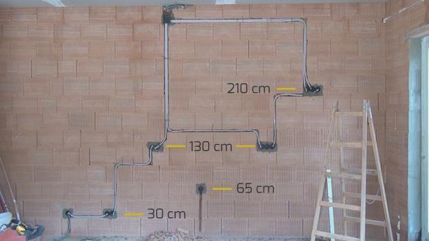 Kücheninstallation bei extra hohen Räumen
