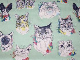 Katzenkopf - Stoff - Meow Wow Wow