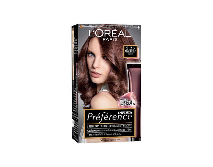 Préférence Infinia Rose Gold Châtain, Coloration Châtain L'Oréal Paris. Achetez vos produits Coloration sur le site L'Oréal Paris. Vidéos, tutoriels et diagnostics personnalisés sur le site.