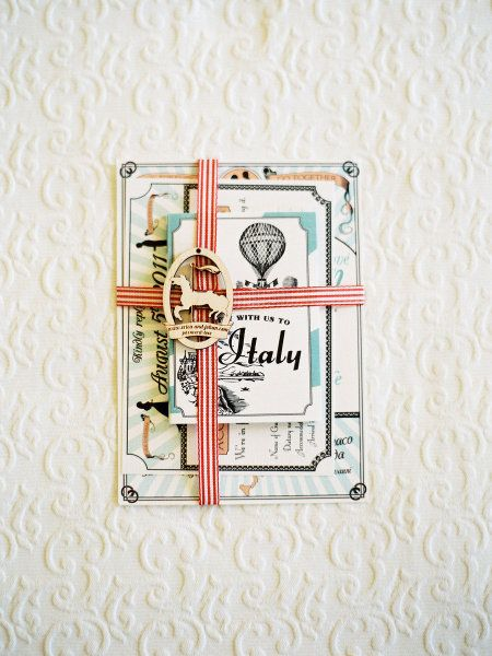 """Loving this invitation collection inspired by Jules Verne """"Extraordinary Voyages"""" collection for this one of a kind wedding in Verona."""