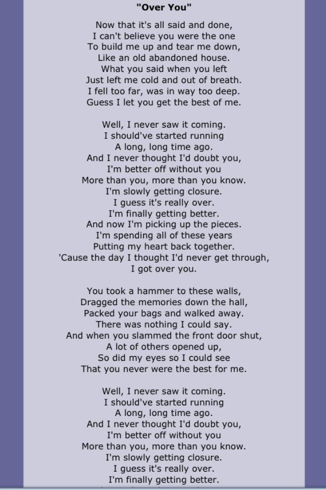 16 best Song lyrics images on Pinterest | Lyrics, Music lyrics and ...