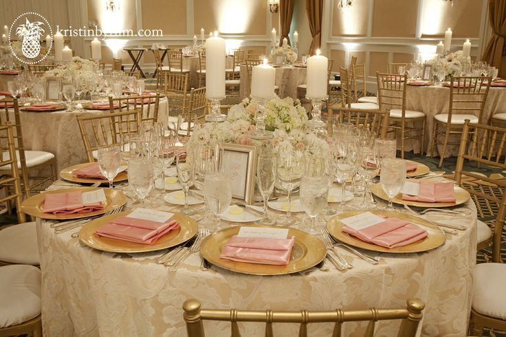 Ivory Amp Gold Wedding Tablescapes