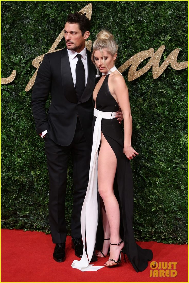 David Gandy &girlfriend  Mollie King attend the British Fashion Awards 2015