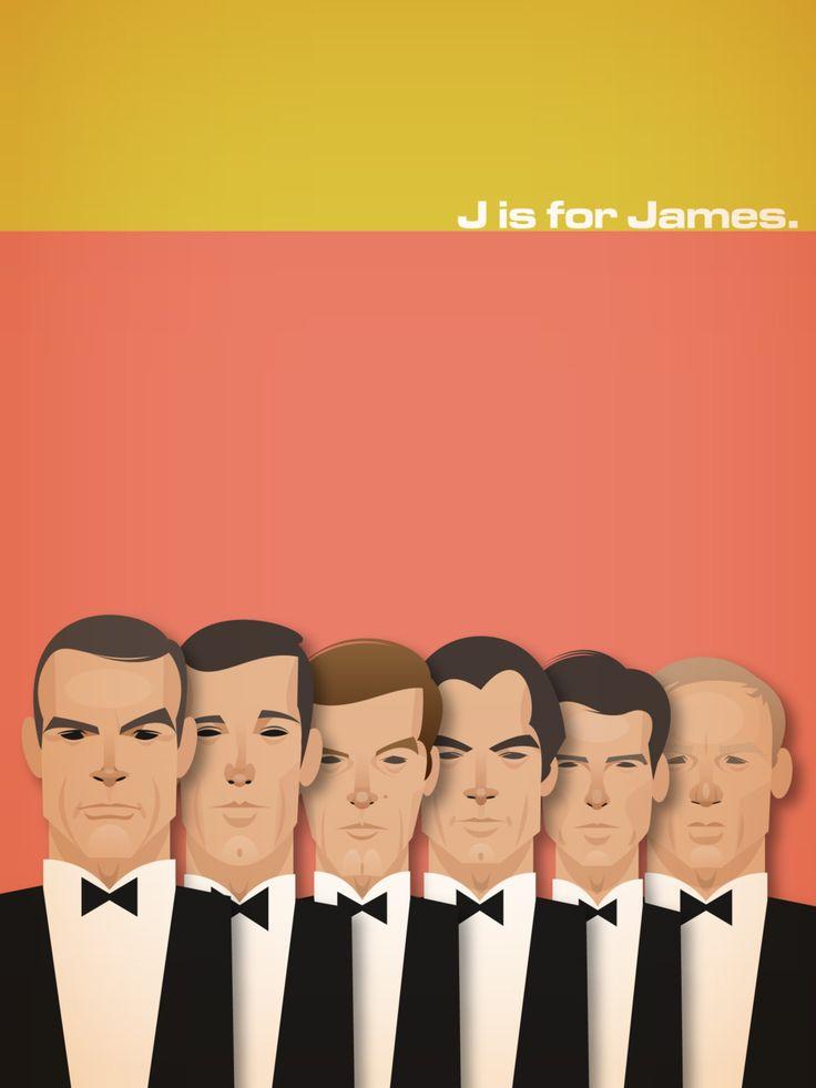 J is for James.James Of Arci, Daniel Craig, Jamesbond, Graphics Art, Bondjam Bond, James Bond, Illustration Art, 007, Stanley Chow