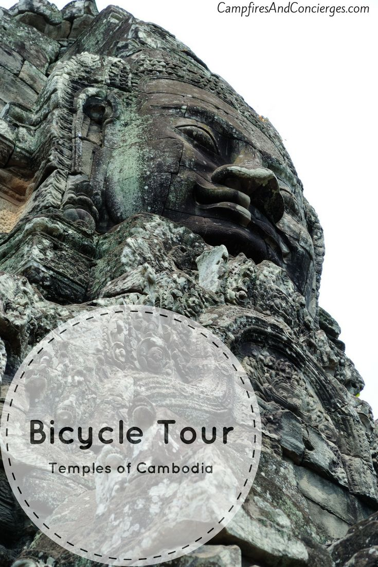 Bicycle Tour of Siem Reap temples in Cambodia Angkor Wat Angkor Thom Ta Prohm Bayon