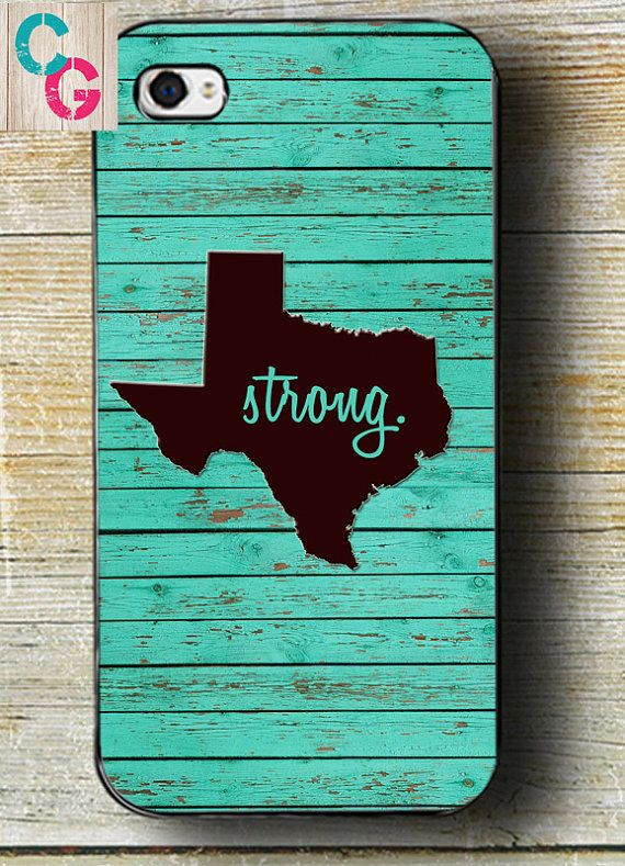 Texas iPhone 6 Case Teal Wood Texas iPhone 6 by CowGirlCentral