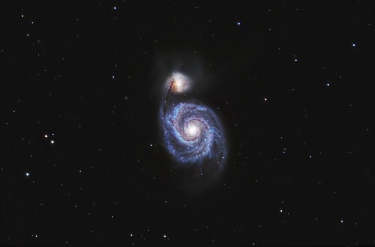 M51 The Whirlpool Galaxy by Stardaug. Ontario, Canada