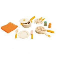 Wooden kitchen utensils set/ hape