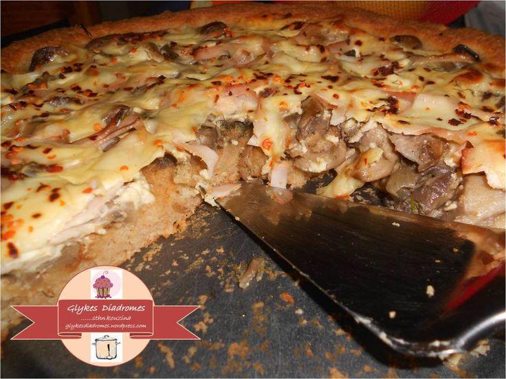 Τάρτα Μανιταρένια με αλεύρι ολικής και κρέμα τυριού / glykesdiadromes.wordpress.com