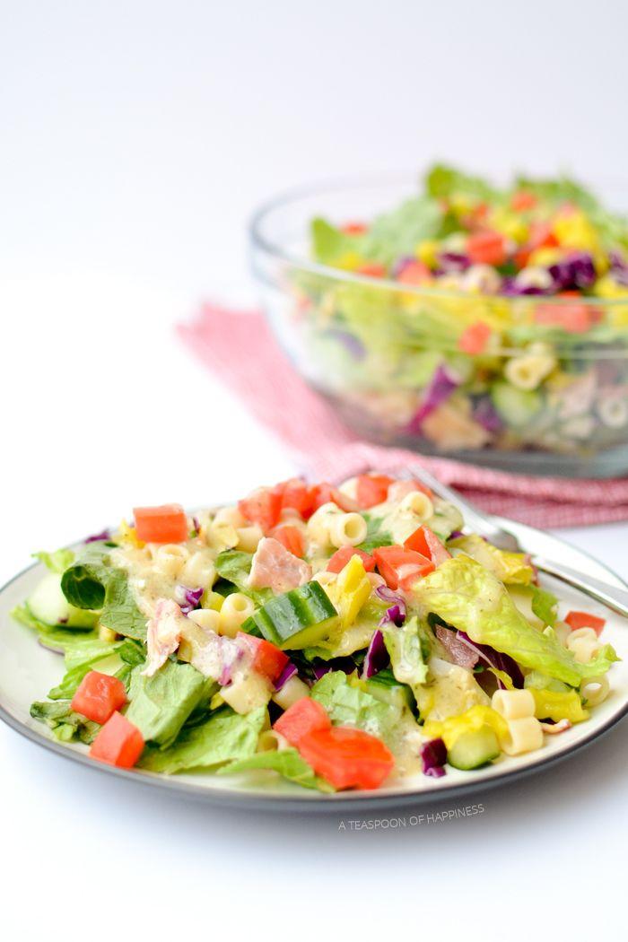 Italian Chop Salad | A Teaspoon of Happiness