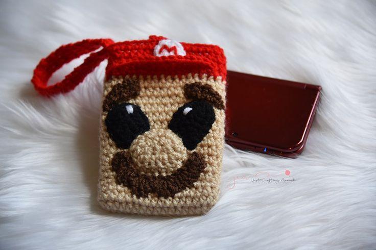 Mario Nintendo Ds XL case cover crochet pattern