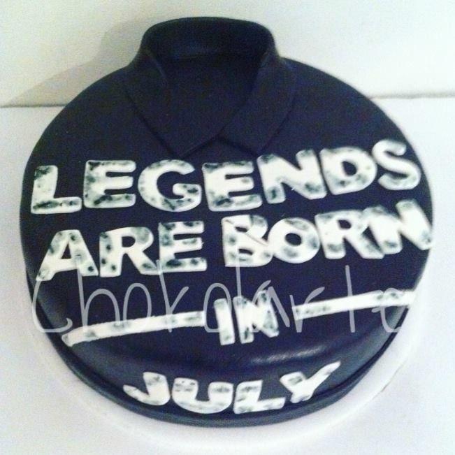 Legends are born in July Tortas temáticas Cali  Pedidos 318-502-2822