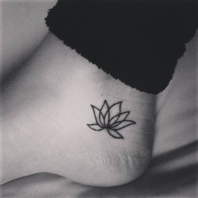31 Tiny Ankle Tattoos With Big Meanings via Brit + Co