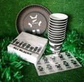 All Blacks Party Pack | Sports Party Theme and Supplies
