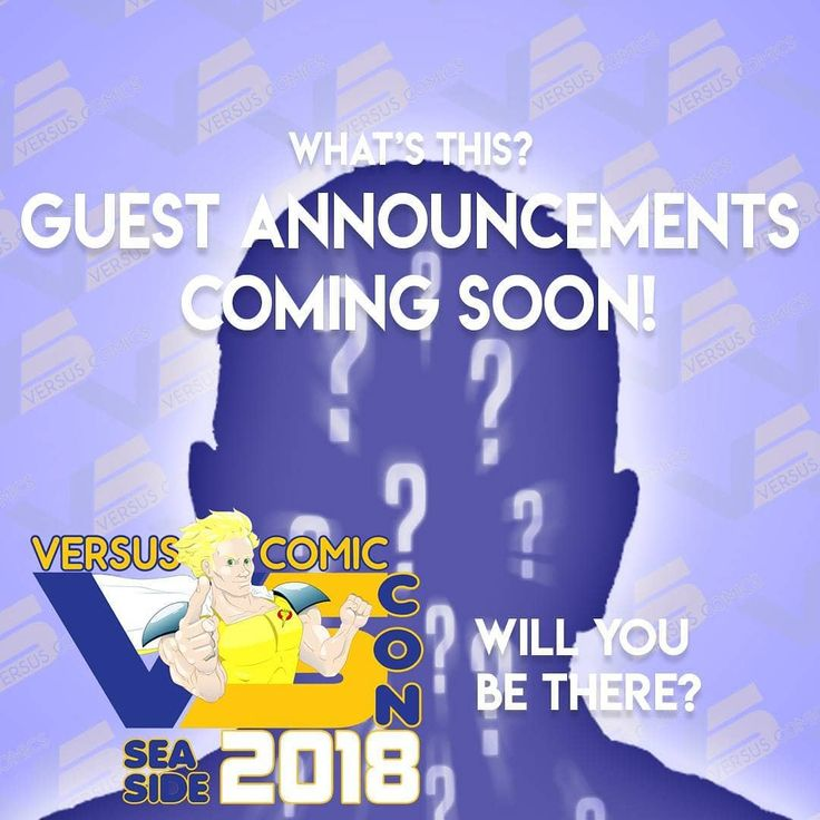 Guest  announcements for the 2018 Versus Comic Con are coming soon!  #versuscomics #versuscomiccon #seasideoregon #visitseaside #summer #july #celebrityguest #comiccon #cosplay #pnw #portlandcosplay #portland #Seattle #oregoncoast #cononthecoast #exciting #artists #comicbooks #anime #scifi