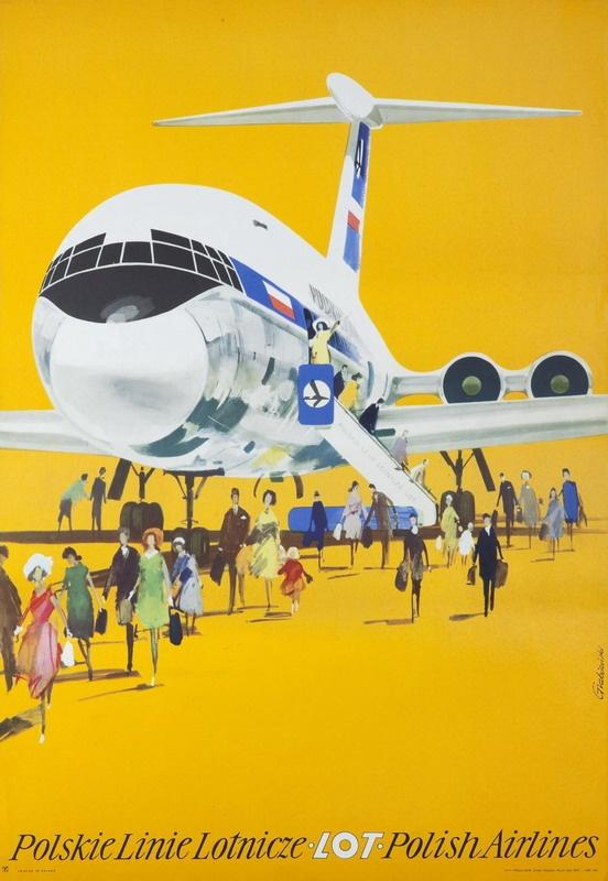 POLAND - Polish Airlines LOT ° Polskie Linie Lotnicze (1960s) #Vintage #Travel