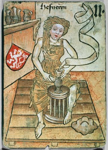 Hofämterspiel - Playing Card c. 1455 via bilddatenbank.khm.at