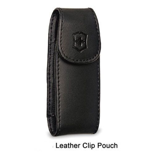 Victorinox Swiss Army Pocket Knife Leather Clip Pouch Size Large. from swissknivesusa.com