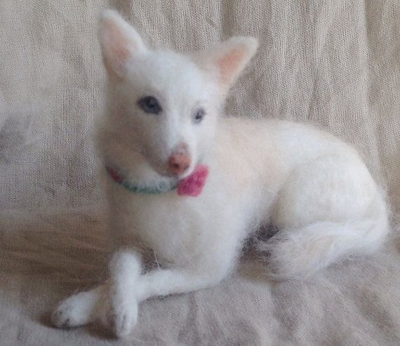 Nadel gefilzt Hund, Haustier Porträt Wolle, Husky großen