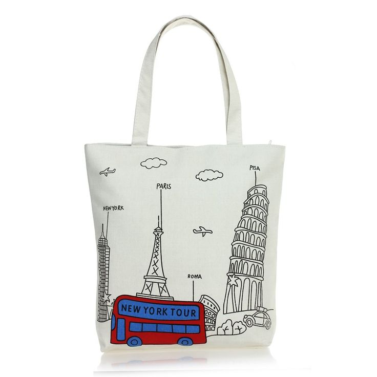 $4.06// Canvas Travel Inspired Bag// Delivery: 6-9 weeks