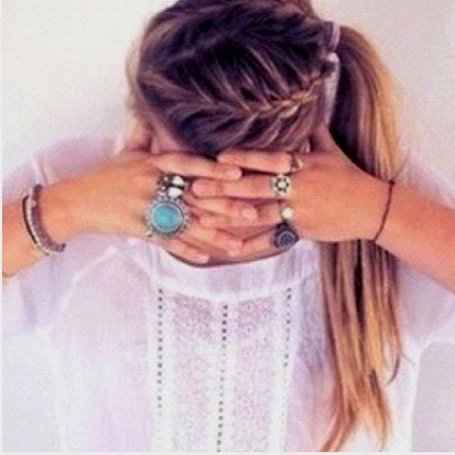 : Hair Ideas, Pony Tail, Ponytail, Hairstyles, Hair Styles, Makeup, Braids, Beauty