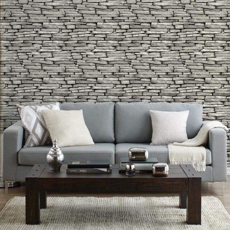 slate wallpaper double roll wallpaper wall decor bedroom pinterest slate. Black Bedroom Furniture Sets. Home Design Ideas